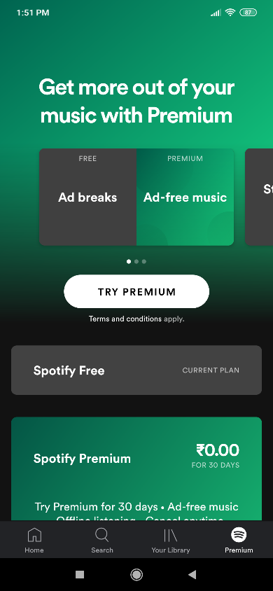 App subscription spotify