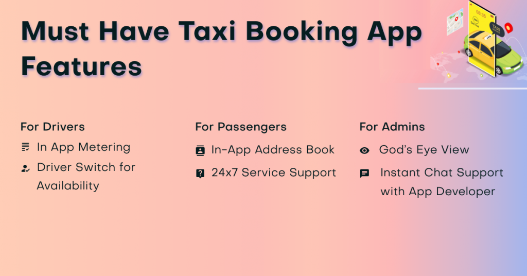 Must-Have Taxi Booking App Features
